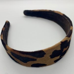 Calf Hair Cheetah Wide Headband